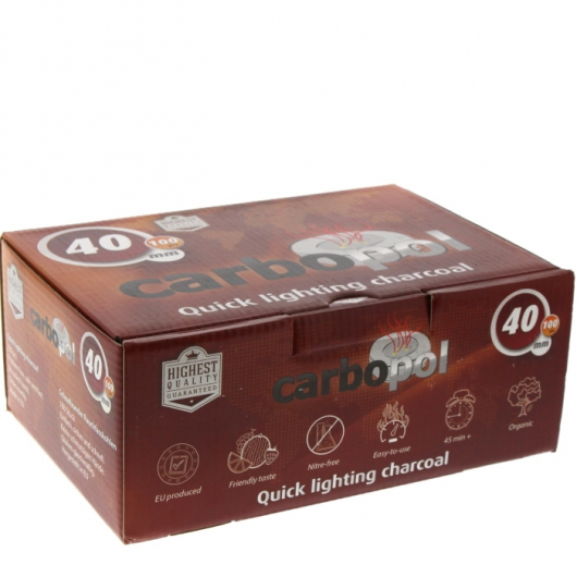 Carbones CARBOPOL 40mm caja de 100