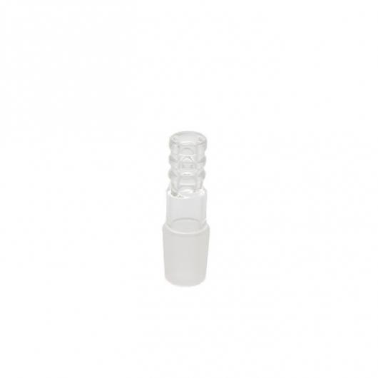 Connecteur en verre pour tuyau silicone