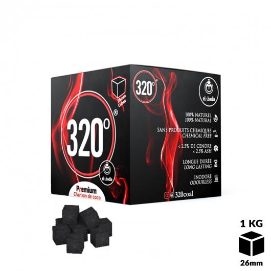 Carbón El-Badia 320° CUBOS de 26 mm 1 Kg