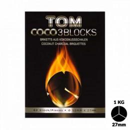 Charbons TOM COCOCHA SILVER 1KG - 3 Blocks