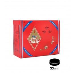 Kohlen THREE KINGS 33 mm, 100er-Packung
