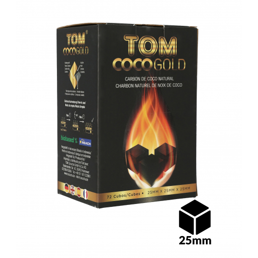 Carbones TOM COCOCHA 1Kg GOLD