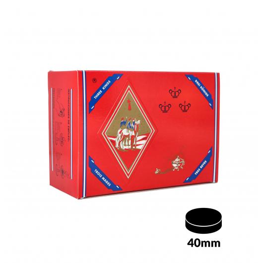 Charbons THREE KINGS XL 40mm boîte de 100