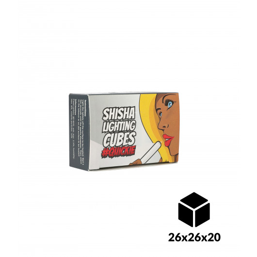Charbons Cubes Auto-allumants 6pcs 26x26x20mm
