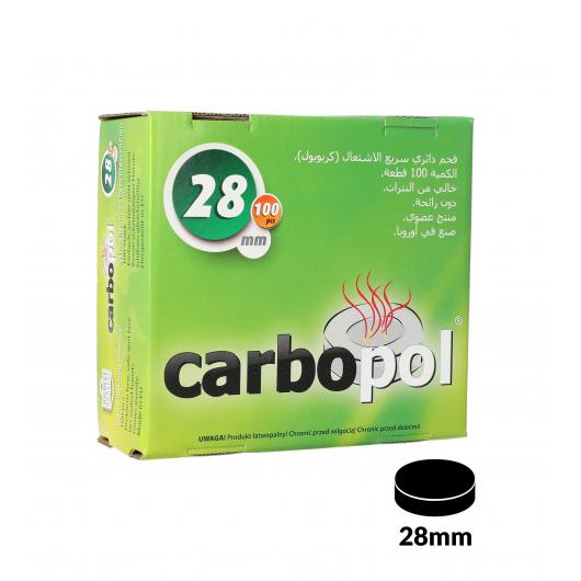 Carbone CARBOPOL 28mm in confezione da 100