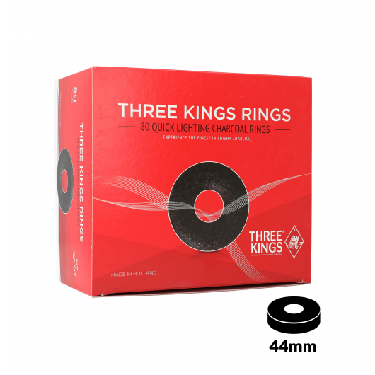 Charbons THREE KINGS RINGS boîte de 80